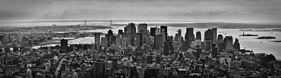 Manhattan Cityscape Art Print by Andreas Freund