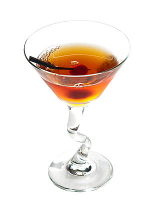 Martini Royalty-Free and Rights-Managed Images - Manhattan cocktail by Boyan Dimitrov