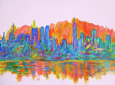 Painting - Manhattan Color Wave by Kendall Kessler