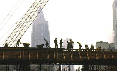 Photograph - Manhattan Construction by Erik Falkensteen