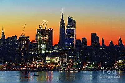 Vermeer Rights Managed Images - Manhattan Dawn Reflected Royalty-Free Image by Regina Geoghan
