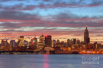 Manhattan Dawn Skyline I Art Print by Clarence Holmes