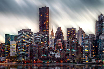 Symmetry Photograph - Manhattan Daze by Az Jackson