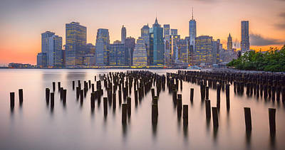 Photograph - Manhattan Dusk by Mark Robert Rogers