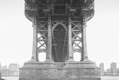 Photograph - Under The Bridge Bw by Emmanuel Panagiotakis