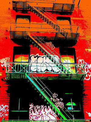 Manhattan Fire Escape Print by Funkpix Photo Hunter