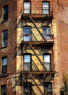 Photograph - Manhattan Fire Escape by Randall Weidner