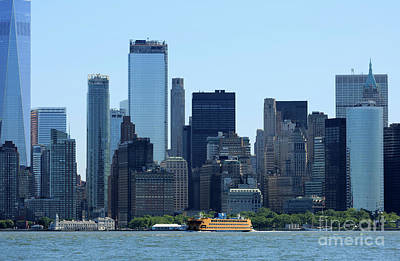 Photograph - Manhattan From New York Harbor by Louise Heusinkveld