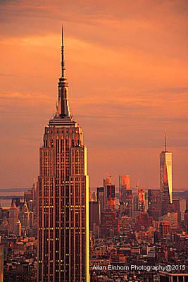 Manhattan Golden Hour Original by Allan Einhorn