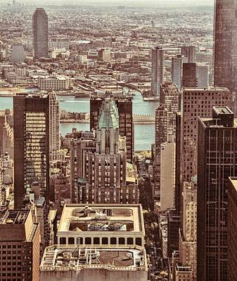 Photograph - Manhattan Grunge by Dan Sproul