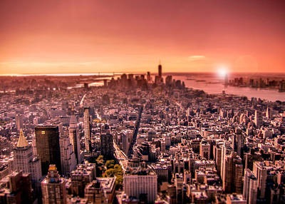 Photograph - Manhattan In Red by Nicklas Gustafsson