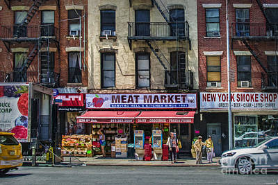 Photograph - Manhattan Meat Market by Stuart Row