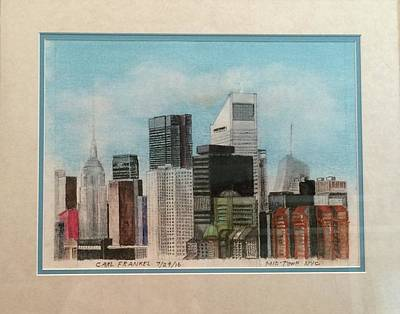 Manhattan Midtown Art Print by Carl Frankel