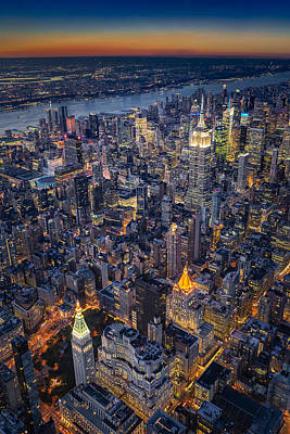 Empire State Building Photograph - Manhattan New York City From Above by Susan Candelario