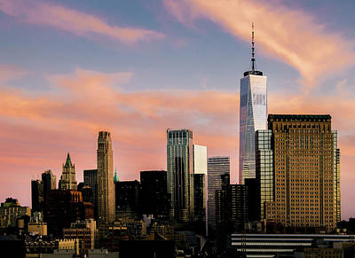 Photograph - Manhattan, New York City Sunset by Alexandre Rotenberg