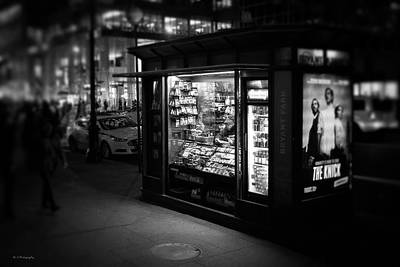 Photograph - Manhattan Newsstand, 42nd Street by Ross Henton