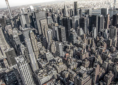 Aerial Photograph - Manhattan by Nicklas Gustafsson