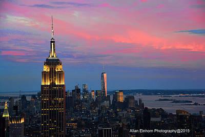 Manhattan Nightfall Original by Allan Einhorn