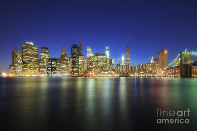 Photograph - Manhattan Nite Lites Nyc by Yhun Suarez