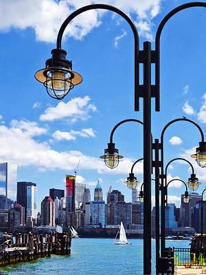 Photograph - Manhattan Ny - Skyline From Liberty State Park by Susan Savad