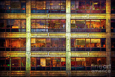 Photograph - Manhattan Office Windows by Stuart Row