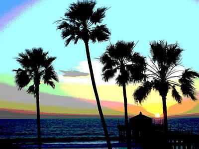Redondo Beach Pier Wall Art - Photograph - Manhattan Palms by South Bay Skies