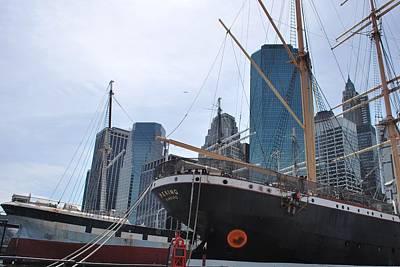 Photograph - Manhattan Pier - Ships And Skyline by Matt Harang