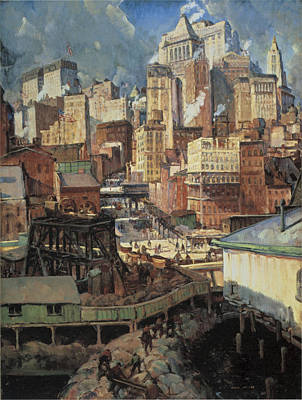 Painting - Manhattan Rhythms by Leon Kroll