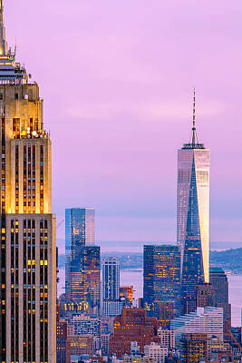 Empire State Photograph - Manhattan Romance by Az Jackson