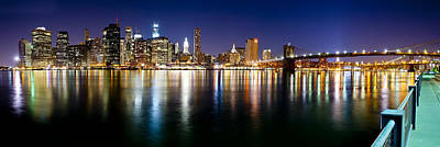 Manhattan Skyline - Southside Art Print by Shane Psaltis