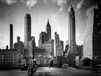Gray Photograph - Manhattan Skyline 1930's by Visions of History