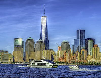 Photograph - Manhattan Skyline And Ferry by Nick Zelinsky