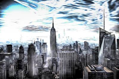 Photograph - Manhattan Skyline Art by David Pyatt