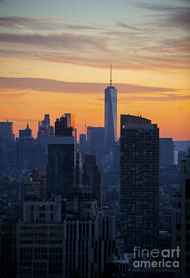 Photograph - Manhattan Skyline At Dusk by Diane Diederich