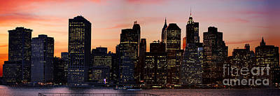 Photograph - Manhattan Skyline At Dusk From Brooklyn Heights by Carlos Alkmin