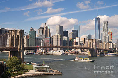 Manhattan Skyline Art Print by Bryan Attewell