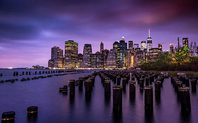Photograph - Manhattan Skyline Colour by Framing Places