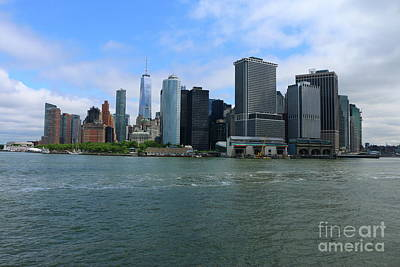 Photograph - Manhattan Skyline From Hudson River by Christiane Schulze Art And Photography