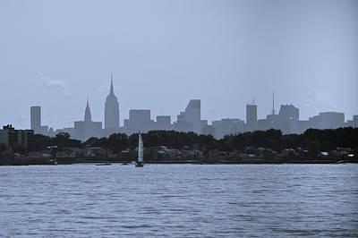 Manhattan Skyline From Syc 1 Art Print by Arthur Sa