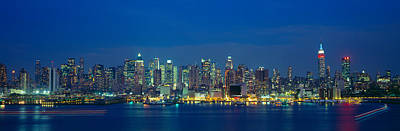 Empire State Photograph - Manhattan Skyline From Weehawken, Nj by Panoramic Images