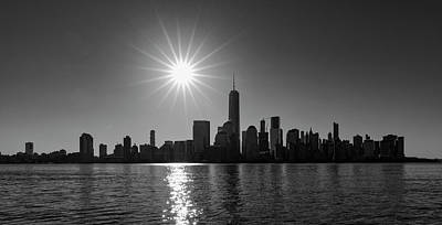 Photograph - Manhattan Skyline In Black And White by Prashant Meswani