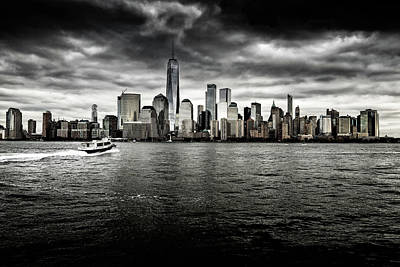 Photograph - Manhattan Skyline by M G Whittingham