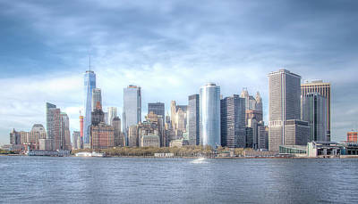 Travel Pics Royalty-Free and Rights-Managed Images - Manhattan Skyline by Mark Andrew Thomas