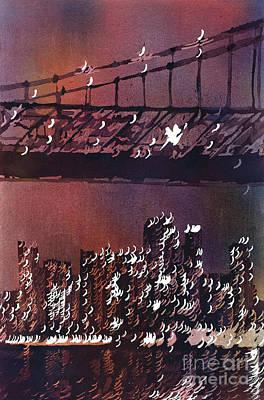 Painting - Manhattan Skyline- Nyc by Ryan Fox