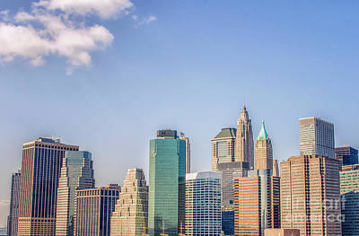 Photograph - Manhattan Skyline by Patricia Hofmeester