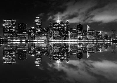 Manhattan Skyline - Reflections 1 Art Print