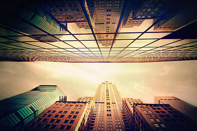 Photograph - Manhattan Skyline Reflections by Jessica Jenney