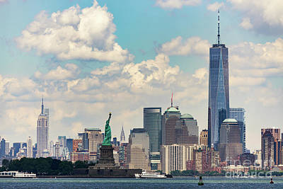 Photograph - Manhattan Skyline by Zawhaus Photography