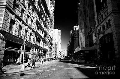 Photograph - Manhattan Street Shadows by John Rizzuto