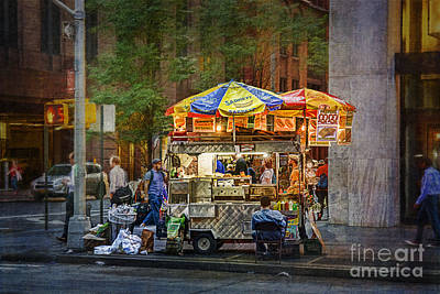 Photograph - Manhattan Street Vendor by Stuart Row